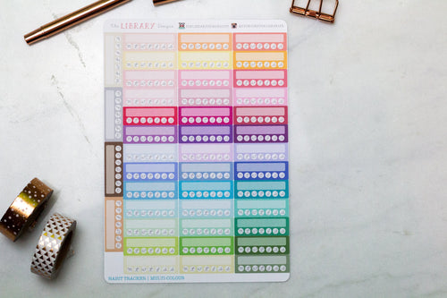 Weekly Habit tracker Hand Drawn Planner Stickers, perfect for Erin Condren, Filofax, Kikki K, Happy Planner, Inkwell Press