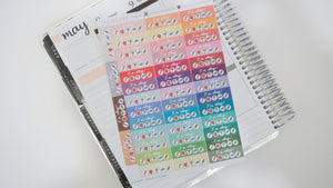5 A Day Hand Drawn Planner Stickers, perfect for Erin Condren, Filofax, Kikki K, Happy Planner, Inkwell Press