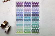 Load image into Gallery viewer, 39 Lace Scallop Quarter Box multi-colour Planner Stickers