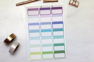 21 Half Appointment Box multi colour Planner Stickers for Erin Condren, Inkwell Press, Happy Planner