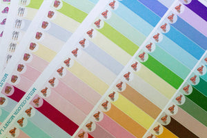 57 Hand Drawn Labels Multi colour Planner Sticker