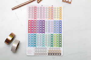 Checklist flag planner stickers multi color dot to do list labels