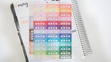 Load image into Gallery viewer, Social Media Daily Tracker Planner Stickers, Hand Drawn perfect for Erin Condren, Filofax, Kikki K, Happy Planner, Inkwell Press