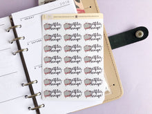 Load image into Gallery viewer, Netflix Binge Planner Stickers, hand drawn tv with hand lettered script
