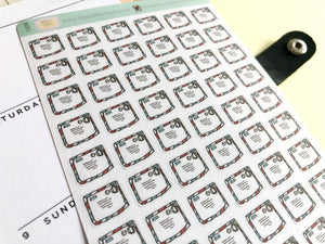 Mail Envelope Planner Sticker hand drawn     ,