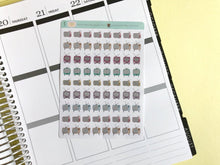 Load image into Gallery viewer, Mini Vintage TV Planner Stickers, hand drawn tiny retro television icons