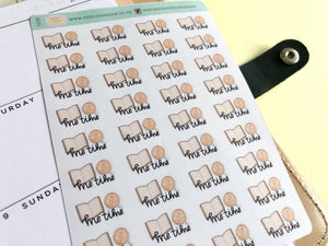 Mini Me time planner Sticker hand drawn coffee and book self care relaxation stickers