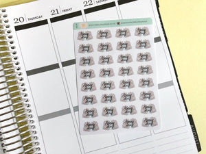 Mini Pay day Planner Stickers Hand Drawn piles of cash hand lettered labels