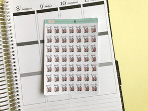 Mini Reading Planner Stickers, Perfect for Erin Condren, Happy Planner, Kikki K, Plum Paper, Filofax, inkwell press