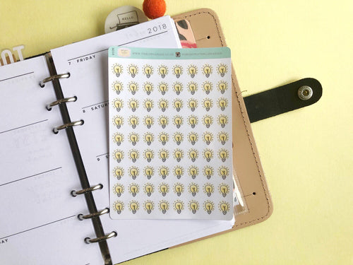Lightbulb Planner stickers for reminders and bright ideas
