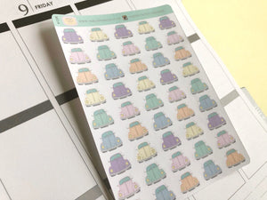 Vintage Car Hand Drawn Planner Stickers, Perfect for Erin Condren, Happy Planner, Kikki K, Plum Paper, Filofax, inkwell press