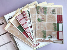 Load image into Gallery viewer, Christmas Wrapping planner sticker kit  kraft minimalist festive season kit
