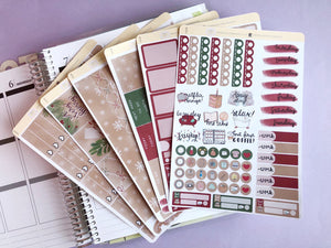 Christmas Wrapping planner sticker kit  kraft minimalist festive season kit
