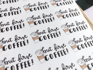 But first coffee Hand Drawn Planner Stickers