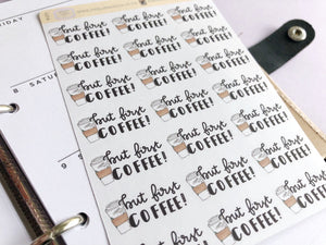 But first coffee Hand Drawn Planner Stickers, perfect for Erin Condren, Filofax, Kikki K, Happy Planner, Inkwell Press