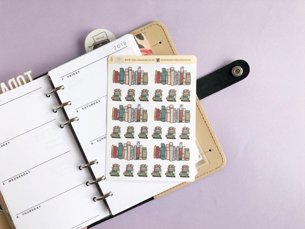 Reading and Books Life Planner stickers,Perfect for Erin Condren, Kikki K, Plum Paper, Filofax