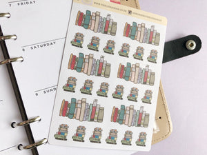 Reading and Books Life Planner sticker