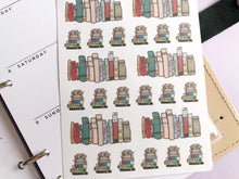 Load image into Gallery viewer, Reading and Books Life Planner stickers,Perfect for Erin Condren, Kikki K, Plum Paper, Filofax