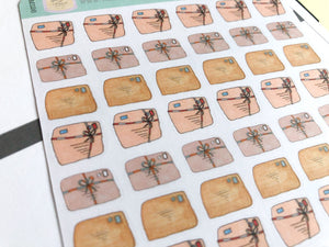 Vintage Parcel Planner Stickers, hand drawn packages for happy mail