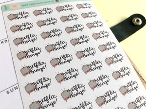 Mini Netflix Binge Hand Drawn Planner Stickers, perfect for Erin Condren, Filofax, Kikki K, Happy Planner, Inkwell Press