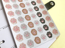 Load image into Gallery viewer, Paw Print planner stickers pets cats dogs furry friends functional decorative hand drawn