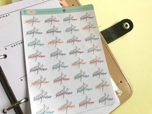 Hair appointment Hand Drawn Planner Stickers