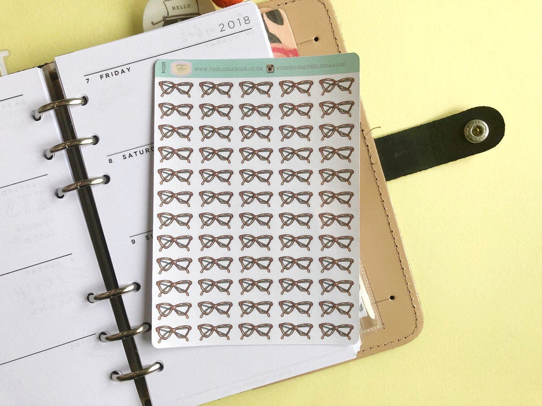 Geek Glasses Planner Stickers, Perfect for Erin Condren, Happy Planner, Kikki K, Plum Paper, Filofax, inkwell press