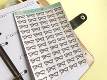 Load image into Gallery viewer, Geek Glasses Planner Stickers