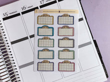 Load image into Gallery viewer, Movie Marquee, Cinema, Film, Movie night  Hand Drawn planner stickers, in light tones
