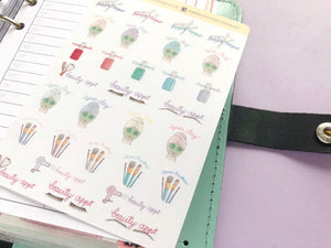 Hand Drawn Beauty Appointment sampler planner stickers  hobonichi