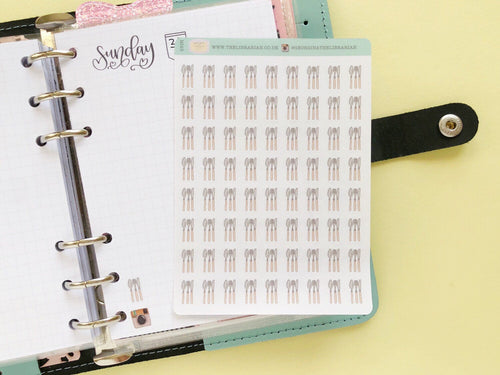 Cutlery silverware small planner sticker food, meal dinner tracking