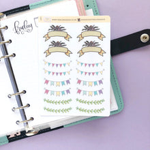 Load image into Gallery viewer, Mixed Banner Sampler Planner Stickers