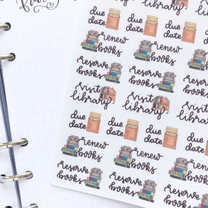Visit the library Hand Drawn large vintage style icon Planner Stickers