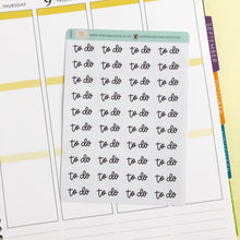 Load image into Gallery viewer, To Do small hand lettered script planner stickers