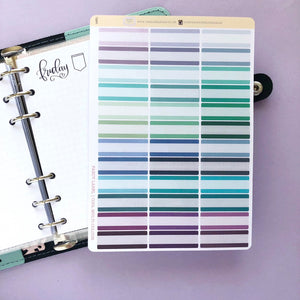 Fancy label Quarter Box multi colour Planner stickers