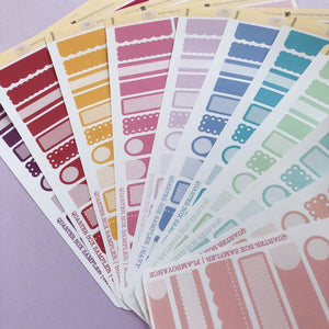 Quarter Box sampler Planner stickers perfect for Erin Condren, Inkwell Press, Happy Planner