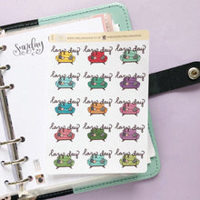 Load image into Gallery viewer, Lazy Day Sofa/Couch Hand Drawn Planner Stickers in bright rainbow colours