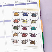 Load image into Gallery viewer, Lazy Day Sofa/Couch Hand Drawn Planner Stickers in dark, warm and cosy colours