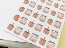 Load image into Gallery viewer, Small Happy Birthday Cake hand drawn Planner stickers for celebrations and parties