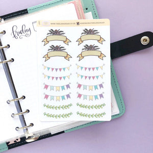 Mixed Banner Sampler Planner Stickers