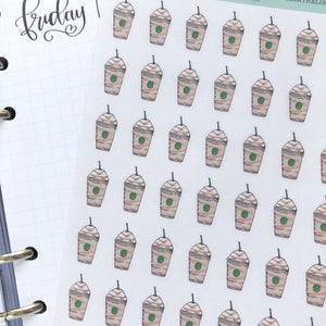 Frapuccino Iced Coffee Hand Drawn Planner Sticker
