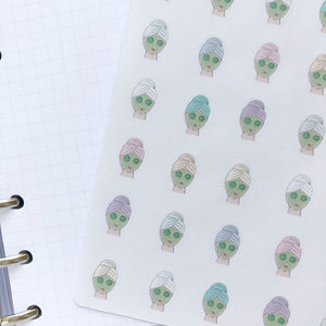 Face mask Hand Drawn Planner Stickers, Perfect for Erin Condren, Happy Planner, Kikki K, Plum Paper, Filofax, inkwell press