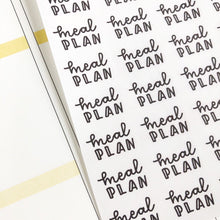 Load image into Gallery viewer, Meal plan script planner stickers lettering monochrome small size hand lettered