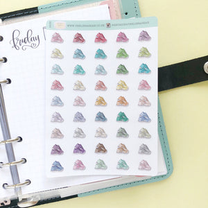 Running shoe trainer sports Planner stickers hand drawn icon multi color