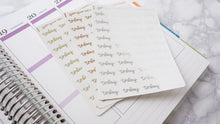 Load image into Gallery viewer, Foil Today script planner stickers lettering small size hand lettered