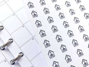 Nano house sticker perfect for journaling or planning