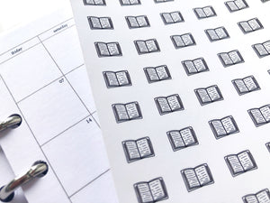 Nano book sticker perfect for journaling or planning