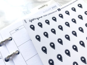 Nano location marker sticker perfect for journaling or planning