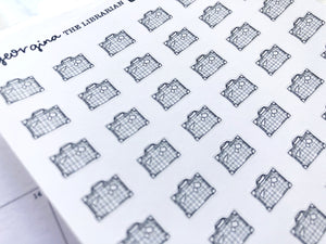 Nano suitcase sticker perfect for journaling or planning