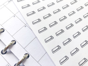 Nano silhouette cutting machine sticker perfect for journaling or planning